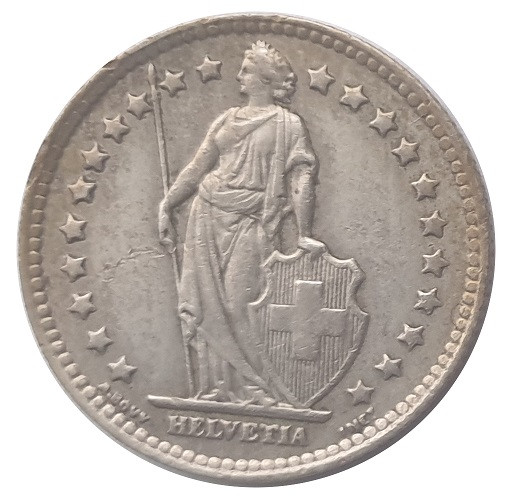 Schweiz 1 Franken Silbermünze 5 gr 835/1000 Silber