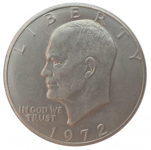 USA One Dollar Eisenhower Weißkopfseeadler 1972