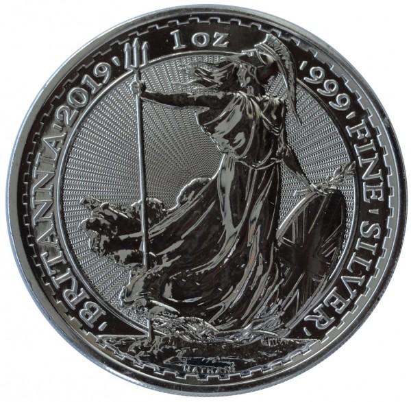 1 Oz Silber Britannia 2019 Großbritannien 2 Pounds