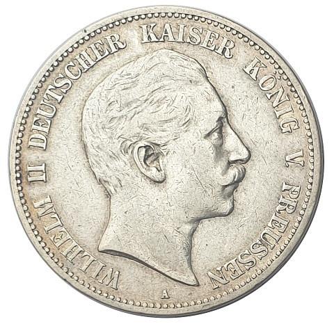Deutsches Kaiserreich 5 Mark Silber Kaiser Wilhelm II 1902 A