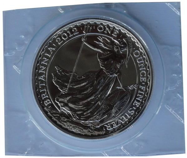 1 Oz Silber Britannia 2012 Silbermünze 2 Pounds Großbritannien