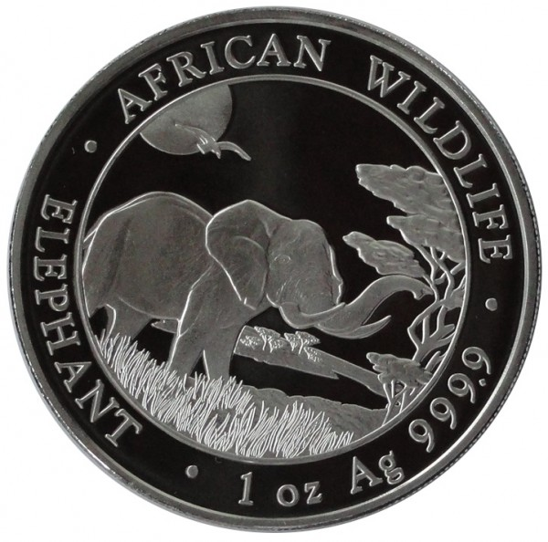 Somalia 100 Shillings 1 Oz Silber Somalia Elefant 2019