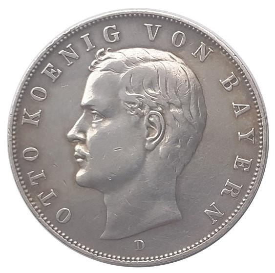 Deutsches Kaiserreich 3 Mark Silber Otto König von Bayern 1910 D