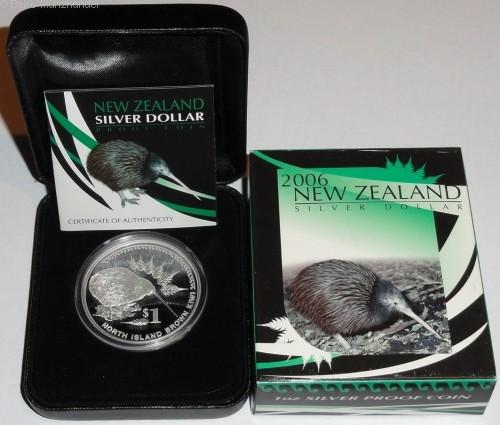Neuseeland 1 Oz Silber Kiwi 2006 PP im Etui