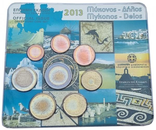 Griechenland 3,88 Euro Kursmünzensatz 2013 Bankfrisch im Original Folder