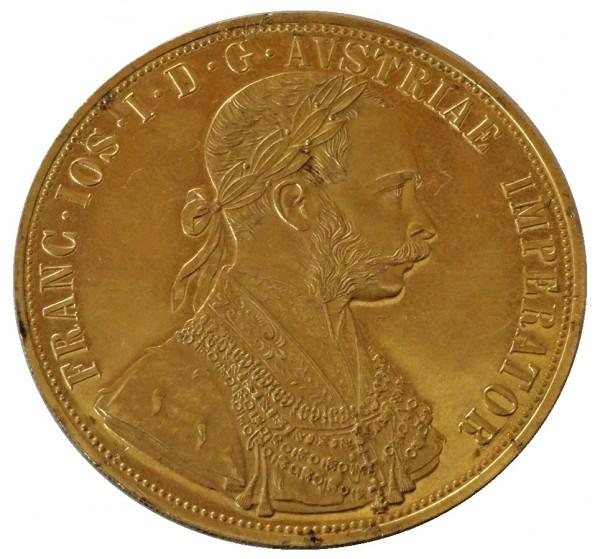 Österreich 4 Dukaten Goldmünze 1915