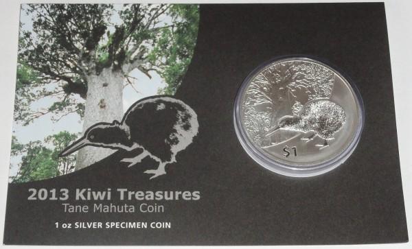 Neuseeland 1 Oz Silber Kiwi 2013 St Blister