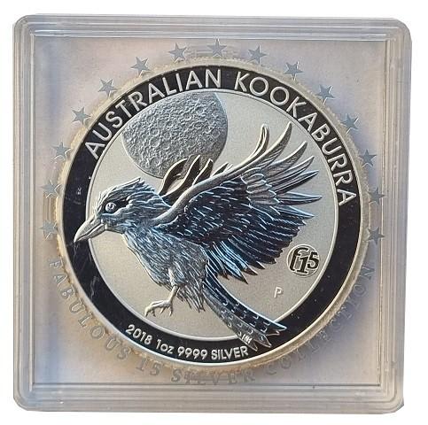 Australien 1 Oz Silber Kookaburra 2018 Privy F 15 in Original Münzkapsel