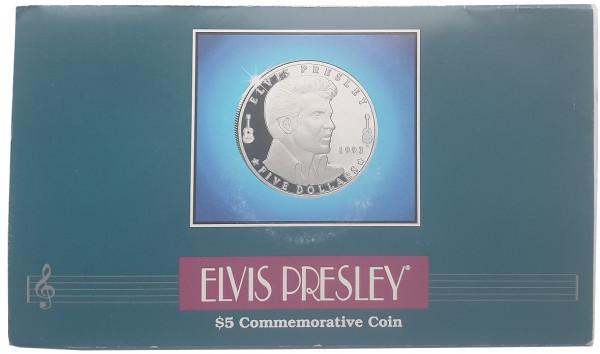 Marshall Inseln 5 Dollars Elvis Presley Münze im Folder