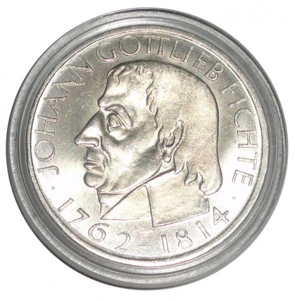 BRD: 5 DM Silber Gedenkmünze Johann Gottlieb Fichte 1964 J