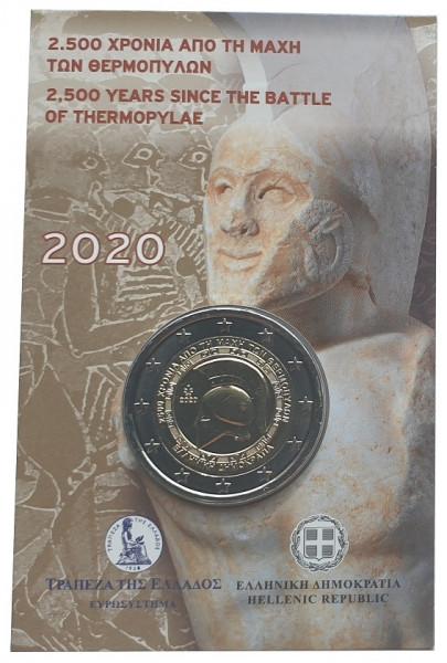 2 Euro Münze Battle of Thermopylae 2020 im Blister Griechenland