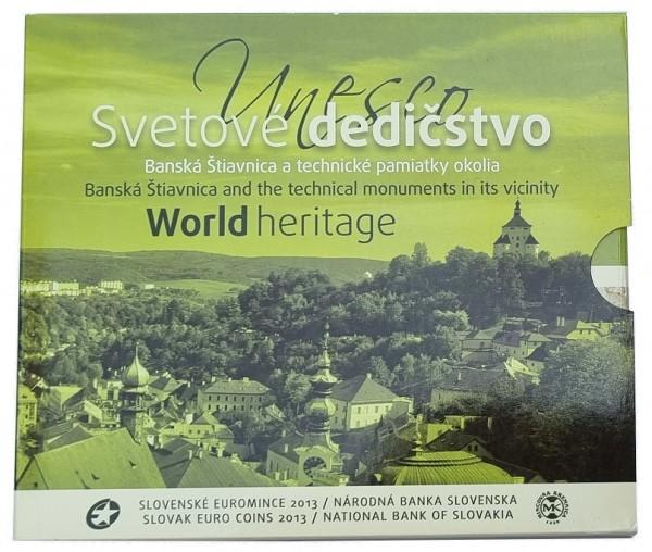 Slowakei 3,88 Euro Kursmünzensatz Banska Stiavnika 2013 Bankfrisch im Folder + Medaille