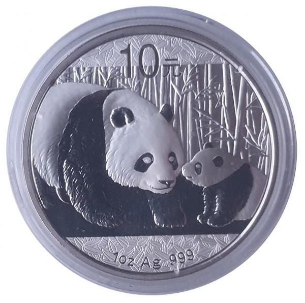 China 10 Yuan 1 Oz Silber Panda 2011 - 31,1 gr 999/1000 Silber