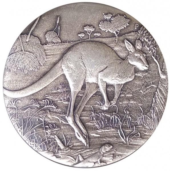 Australien 2 Oz Silber Känguru 2016 Antik Finish