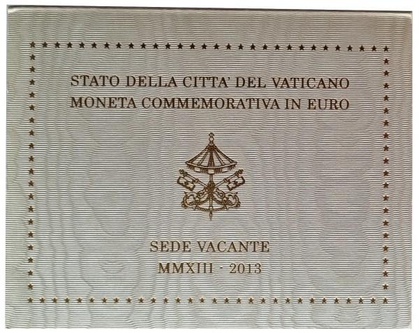 Vatikan 2 Euro Gedenkmünze Sede Vacante (Sedisvakanz) - papstlose Zeit 2013 im Blister