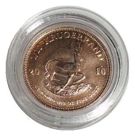 Süd Afrika Goldmünze 1/10 Oz Gold Krügerrand 2010