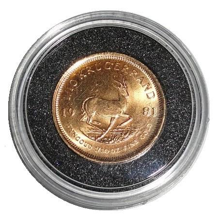 Süd Afrika Goldmünze 1/10 Oz Gold Krügerrand 1981