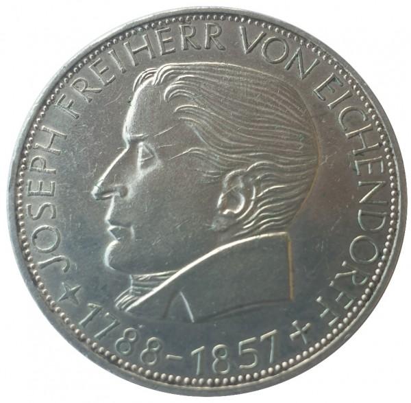 5 DM Silber Freiherr von Eichendorff 1957 J Gedenkmünze Deutschland