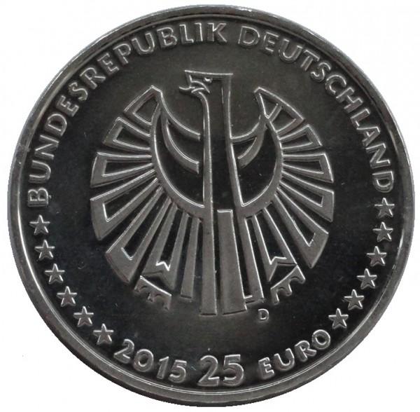 BRD: 25 Euro Silber - Gedenkmünze 25 Jahre Deutsche Einheit 2015