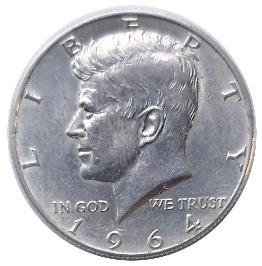 Half Dollar Kennedy Silber 1964 USA 12,5 gr 900/1000 Silber