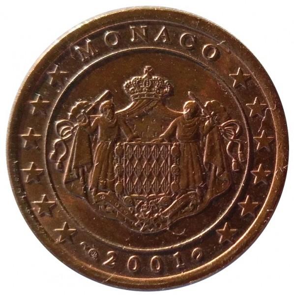 Monaco 5 Cent Münze 2001 Bankfrisch