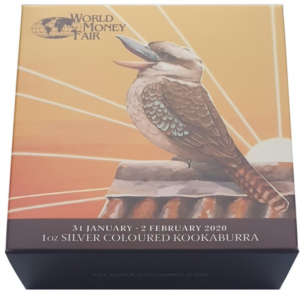 1 Oz Silber Kookaburra - World Money Fair Berlin 2020 aus Australien