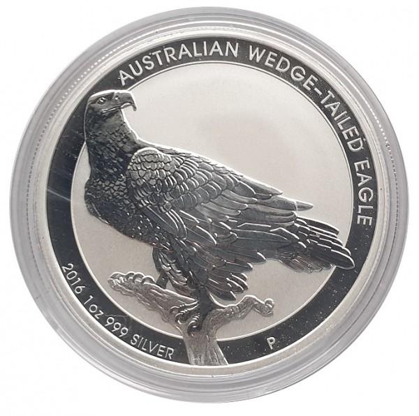 Australien 1 Oz Silber Wedge-Tailed Eagle (Keilschwanzadler) 2016 in Münzkapsel