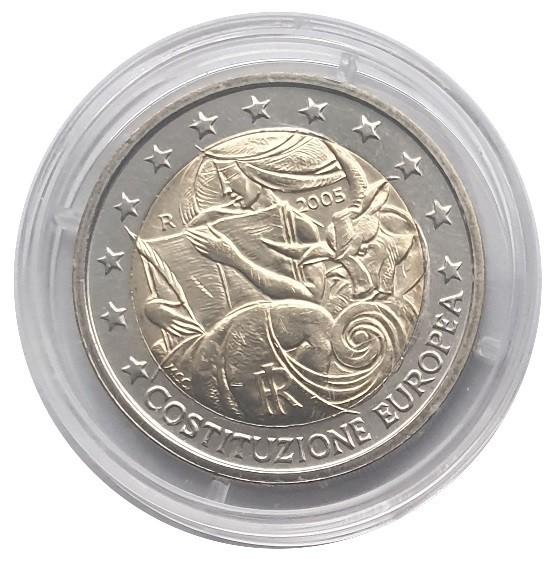 2 Euro Italien 2005 Europäische Verfassung Bankfrisch in Münzkapsel