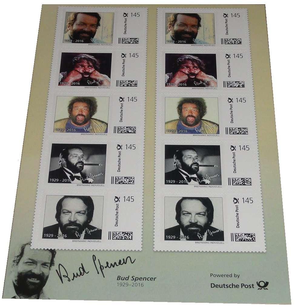 Bud Spencer Briefmarken 10 x 1 45 Euro Briefmarkenbogen Limited Edition nur 10 000 Stück