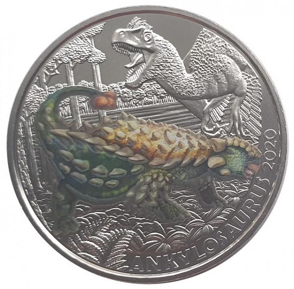 3 Euro Ankylosaurus 2020 - Dino-Taler-Serie aus Österreich Dinosaurier
