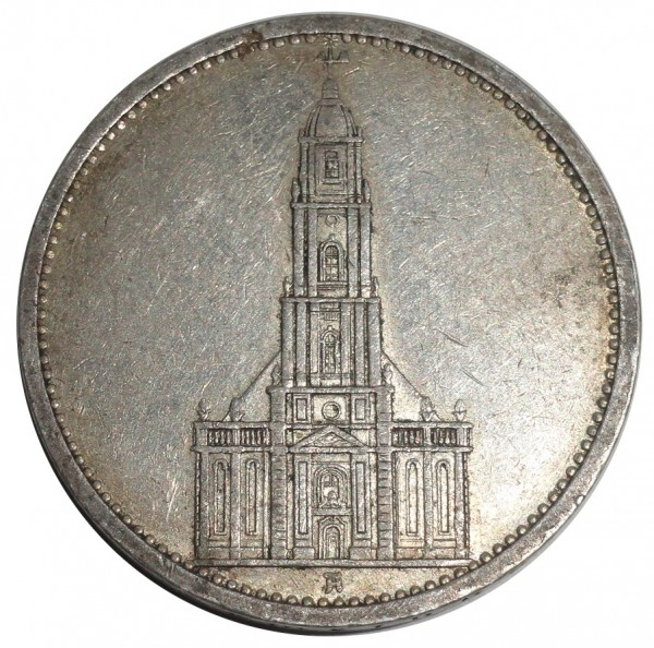 Deutsches Reich 5 Reichsmark Silber Garnisonkirche
