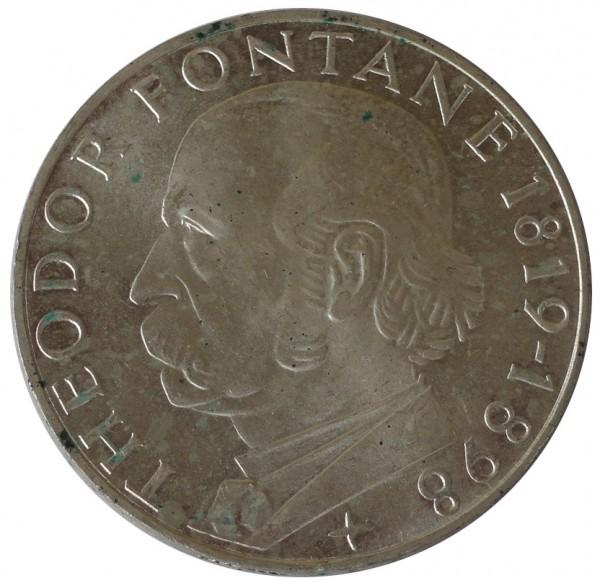 BRD: 5 DM Silber Gedenkmünze Theodor Fontane 1969 G