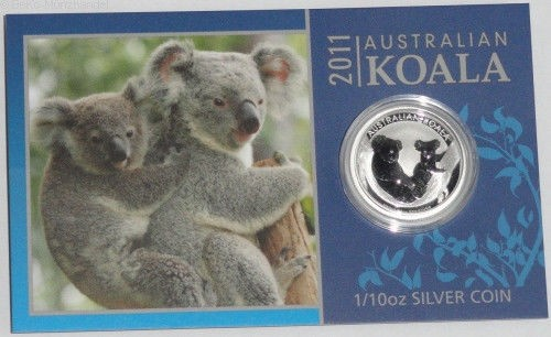 Australien 1/10 Oz Silber Koala 2011 im Blister