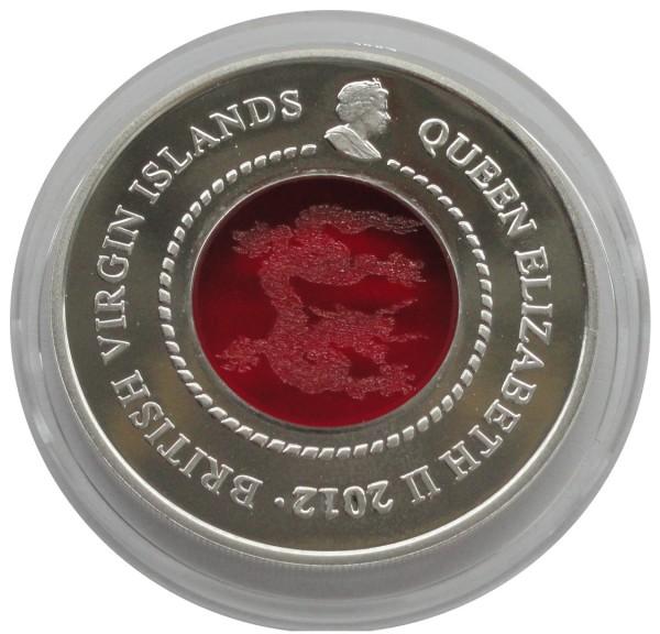 British Virgin Island 10 Dollars Silbermünzen Drache 2012