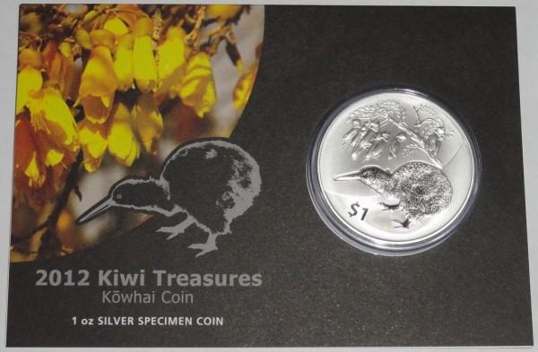Neuseeland 1 Oz Silber Kiwi 2012 St Blister