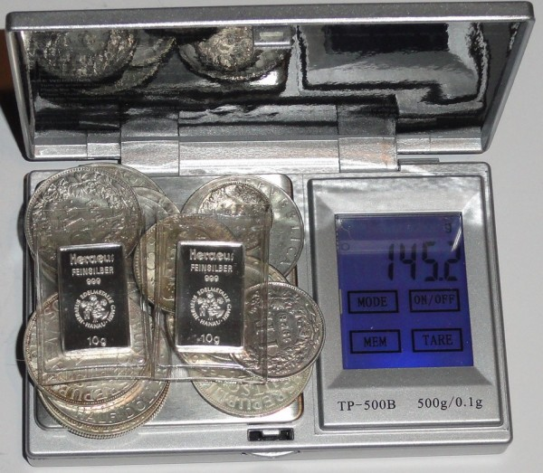 Silber Lot verschiedene Länder + 2 x 10 gr Silberbarren Heraeus 145 gr Brutto