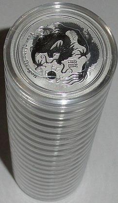 Australien 20 x 1/2 Oz Silber Lunar Drache II 2012